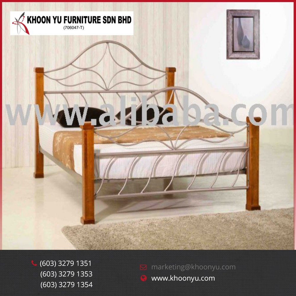 - Modern Bedroom Sets Emperor Double Beds Metal Furniture Folding Bed Made In  Malaysia - Buy Metal Furniture,Metal Double Bed,Metal Folding Bed Product  On Alibaba.com