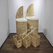 Vietnam crafts Natural Handwoven Water Hyacinth Trunks for home furniture-SD2521A-5NA