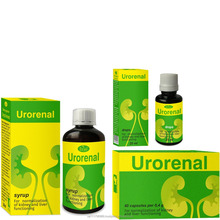 "Natural herbal products for urinary tract and kidneys health maintenance CAPSULES, DROPS, SYRUP ""URORENAL"""