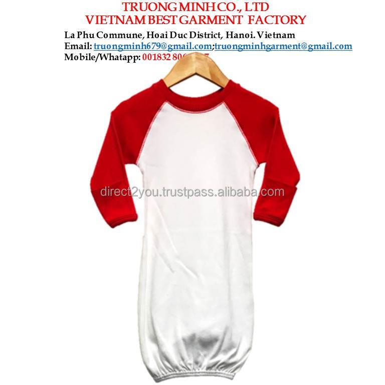 Baby Night Gown Raglan W/ Red Mittens - Buy Baby Sleep Wear,Fancy ...