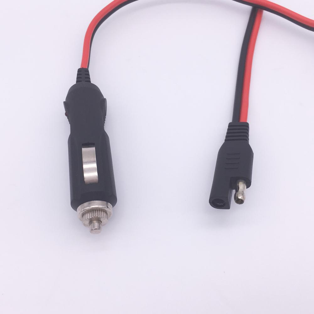 Oem 12v Ac Dc Adapter Sae Connector 18awg 2 Core Round Cable Plug Wiring Harness Trailer