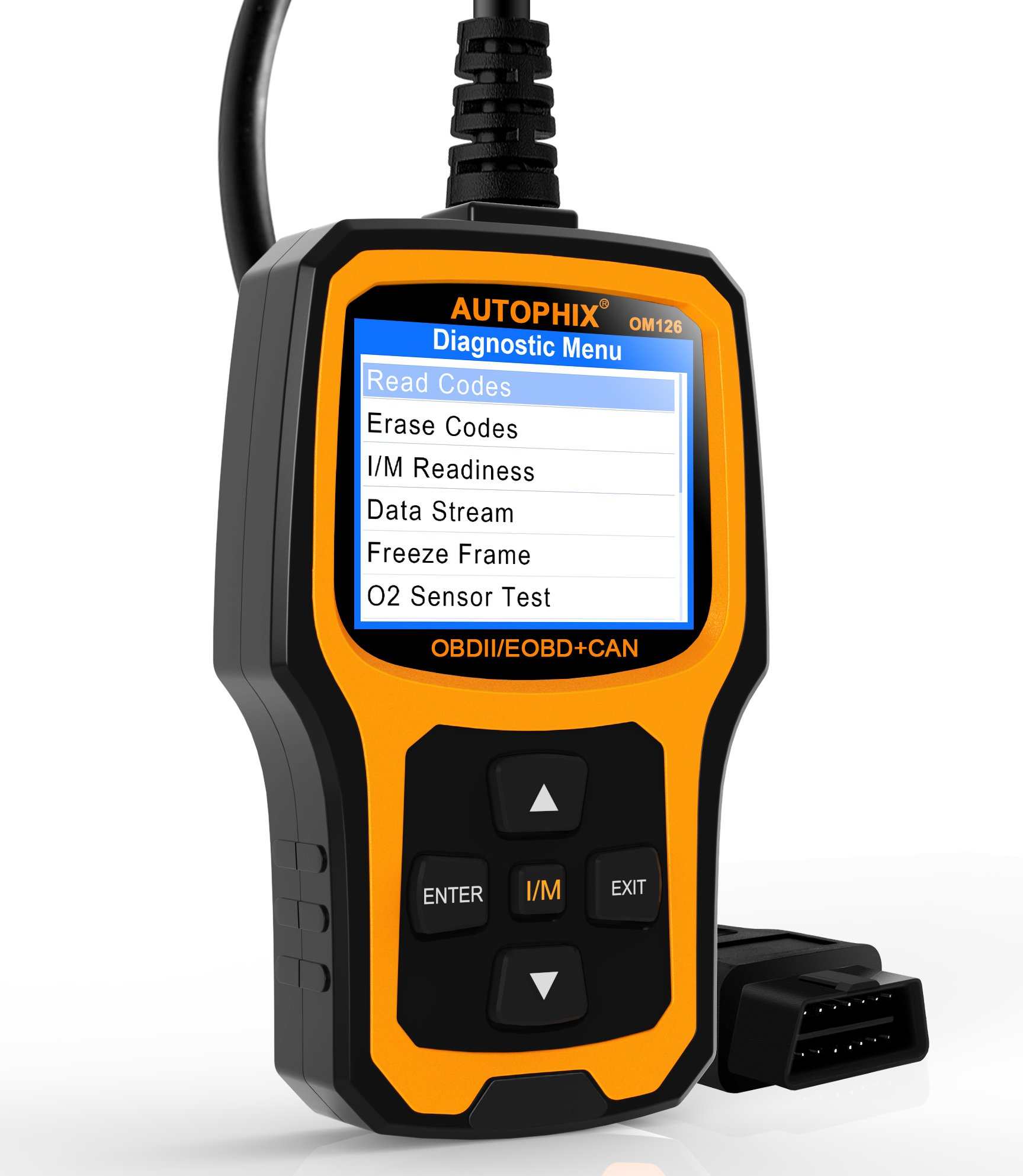 Get Quotations · AUTOPHIX Code Reader OM126 OBDII OBD2 Scanner Car Engine  Fault Code Reader Auto Check Engine Light