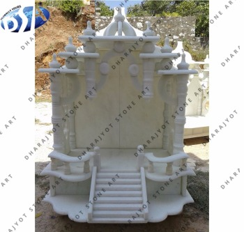 Super White Marble Mandir For Home Indian Temple