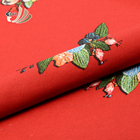 Hot sale polyester spandex red small vintage floral print flower 3d spacer fabric