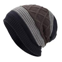 Winter Knit Hat Wool Watch Cap Fur Skull Beanie Cold Weather Warm Hats for Men and Women