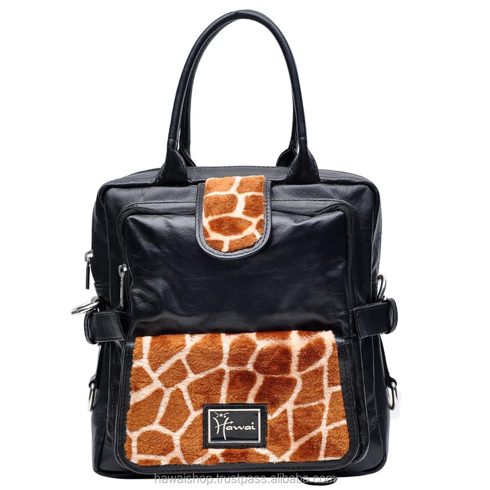 2907995379a2 Ladies Animal Print Genuine Leather Hand Crafted Fashionable Handbag ...