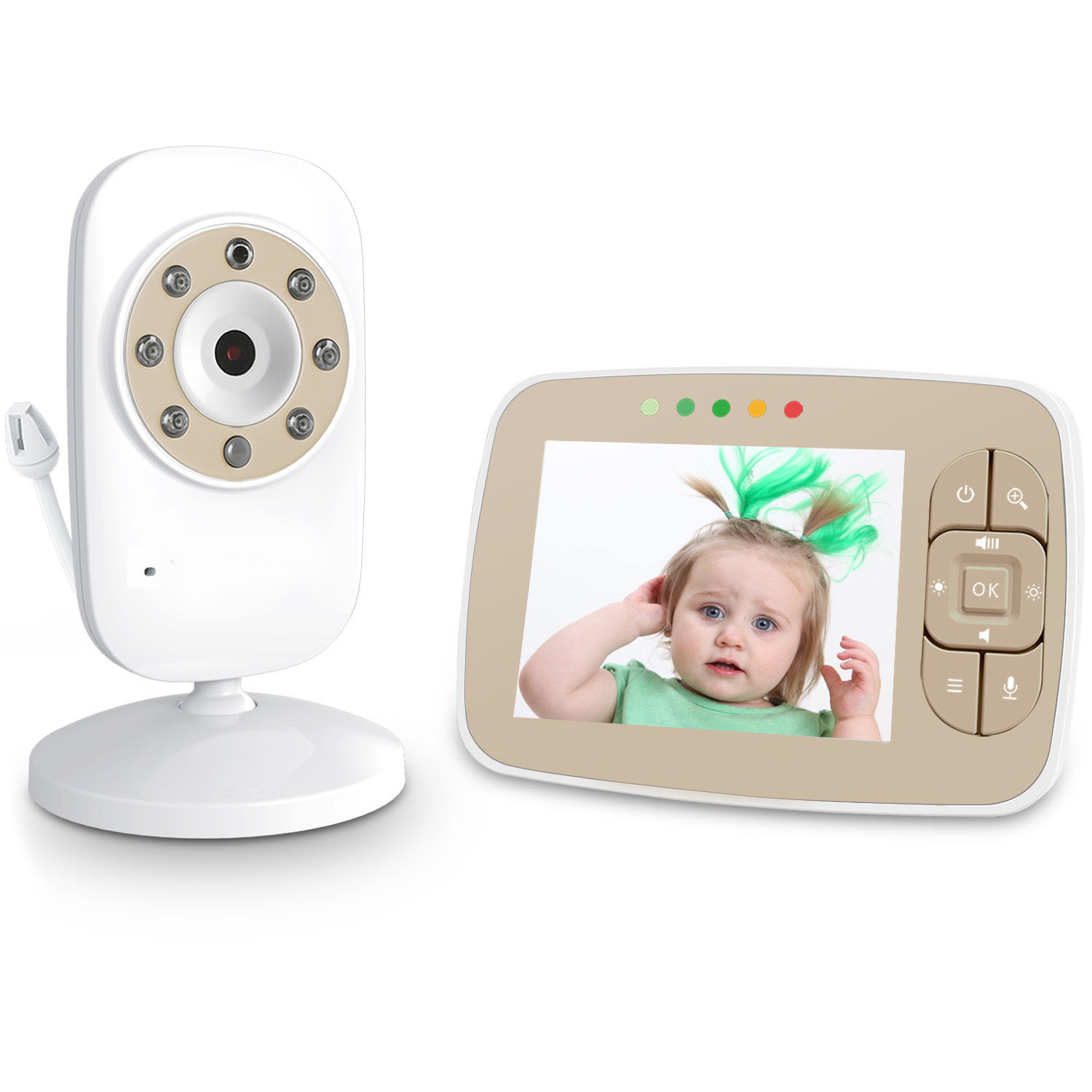 3.5 pollici 2.4G wireless video baby monitor baby monitor della macchina fotografica