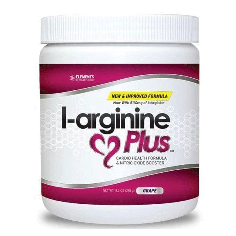 L-arginine Plus® #1 L-arginine Supplement - 5110mg L-arginine & 1010mg L-citrulline Vitamins & Minerals to Support Blood Pressure, Cholesterol and More 13.4 ounce, Grape