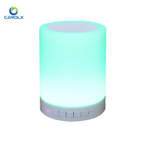 LED Night Light for Kids with Speaker and Touch Control Bedside Baby Nursery Bluetooth Lamp