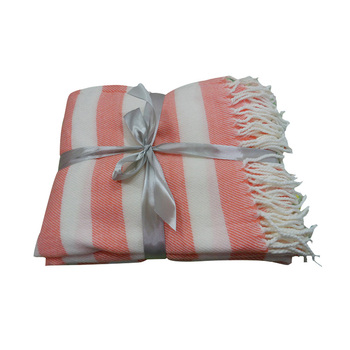 Comfortable Pink striped blanket