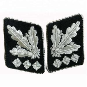 Collar Tabs WWII German Militaria Oberstgruppenfuhrer Reproduction
