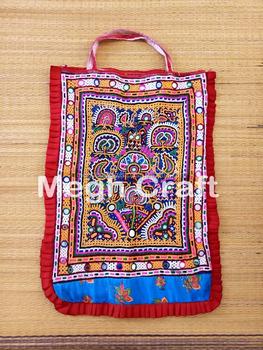 9bca9f1e319b Gujarat Tribal Mirror work Theli Bag - Kutch Rabari Gypsy Work Theli Bag-Indian  Traditional