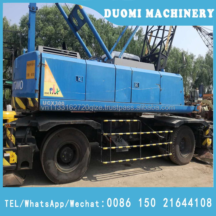 Japan used 30ton Hitachi sumitomo UCX300 truck crane for sale in Shanghai, with good condition