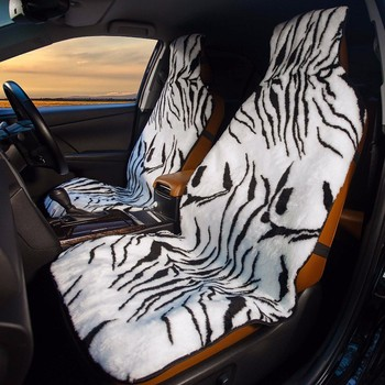 Car Seat Covers made from artificial fur color Zebra