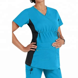 Wholesale Women Hospital Uniform Scrub Top