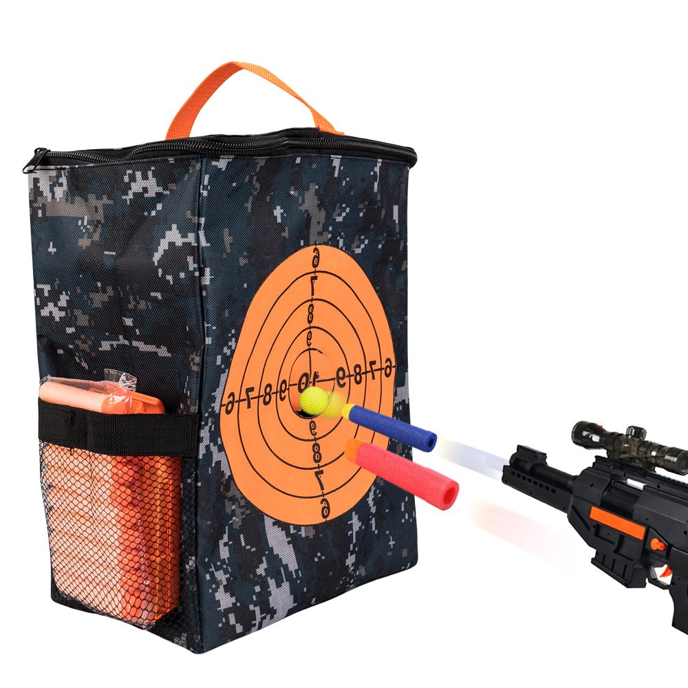 Target Pouch Storage Carry Equipment Bag for Nerf Guns Darts N strike Elite / Mega / Rival Series