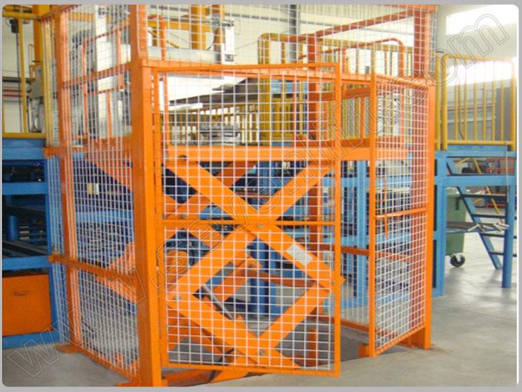 7LSJG Shandong SevenLift warehouse hydraulic scissor vertical cargo