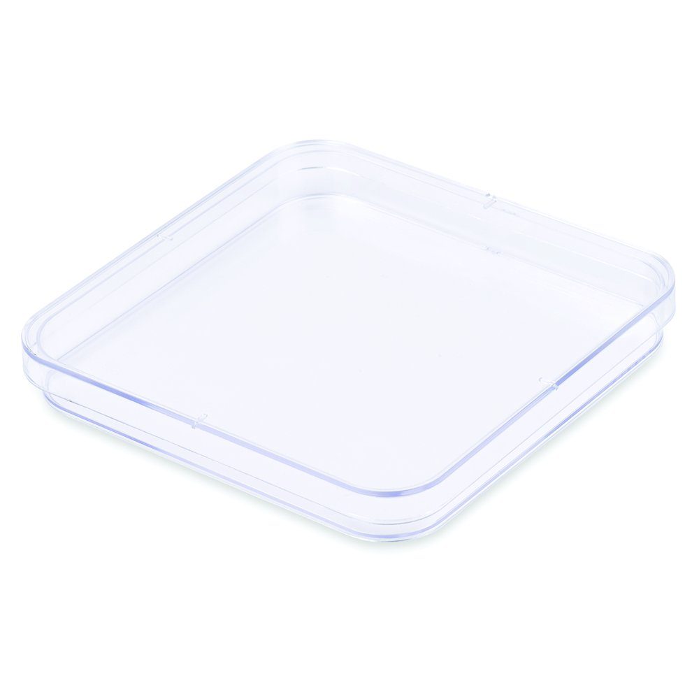 Petri Dishes, 130x15mm, Square-Shaped, PS Material, E.O. Sterile, Karter Scientific 236V2 - Pack of 10