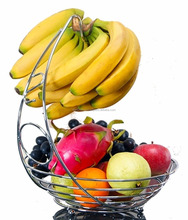 Stainless Steel Wire Fruit bowl with Banana Hanger