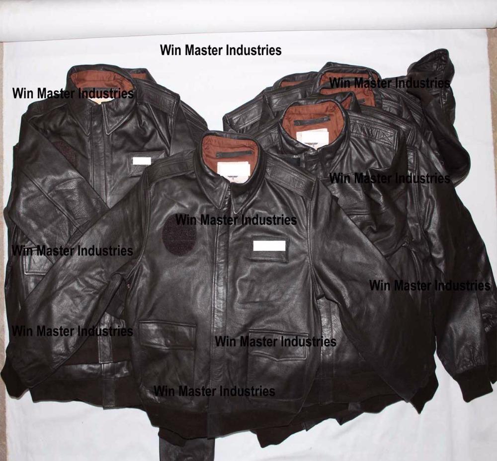 प्रो A2 उड़ान mens कपास जैकेट चमड़े बॉम्बर जैकेट
