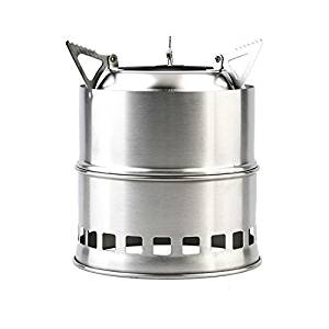 Outdoor Portable Wood Burning Backpacking Emergency Survival BBQ Camping Stove camping equipment Easy Fuel, Best Cooking System for Backpacking Hiking Camp Kitchen Grill