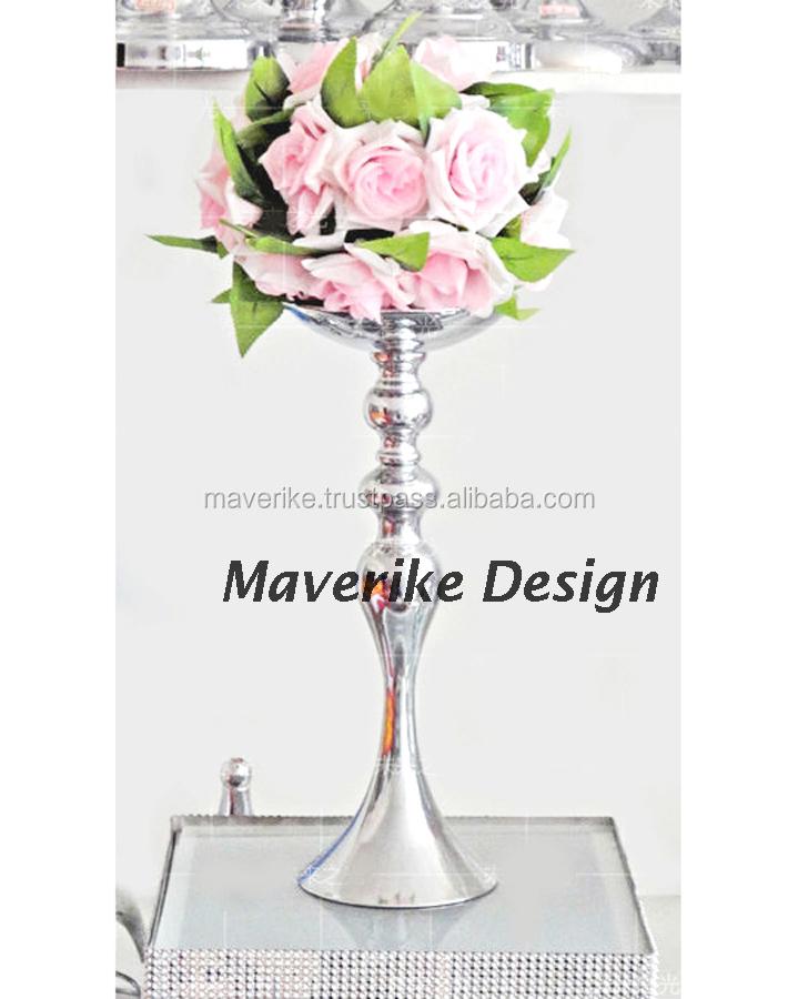 Vaso de flor da tabela do casamento / vaso da trombeta, vaso da trombeta para a flor, vaso de flor de prata