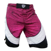 Blank mixed martial arts black sublimation no stretch mma shorts
