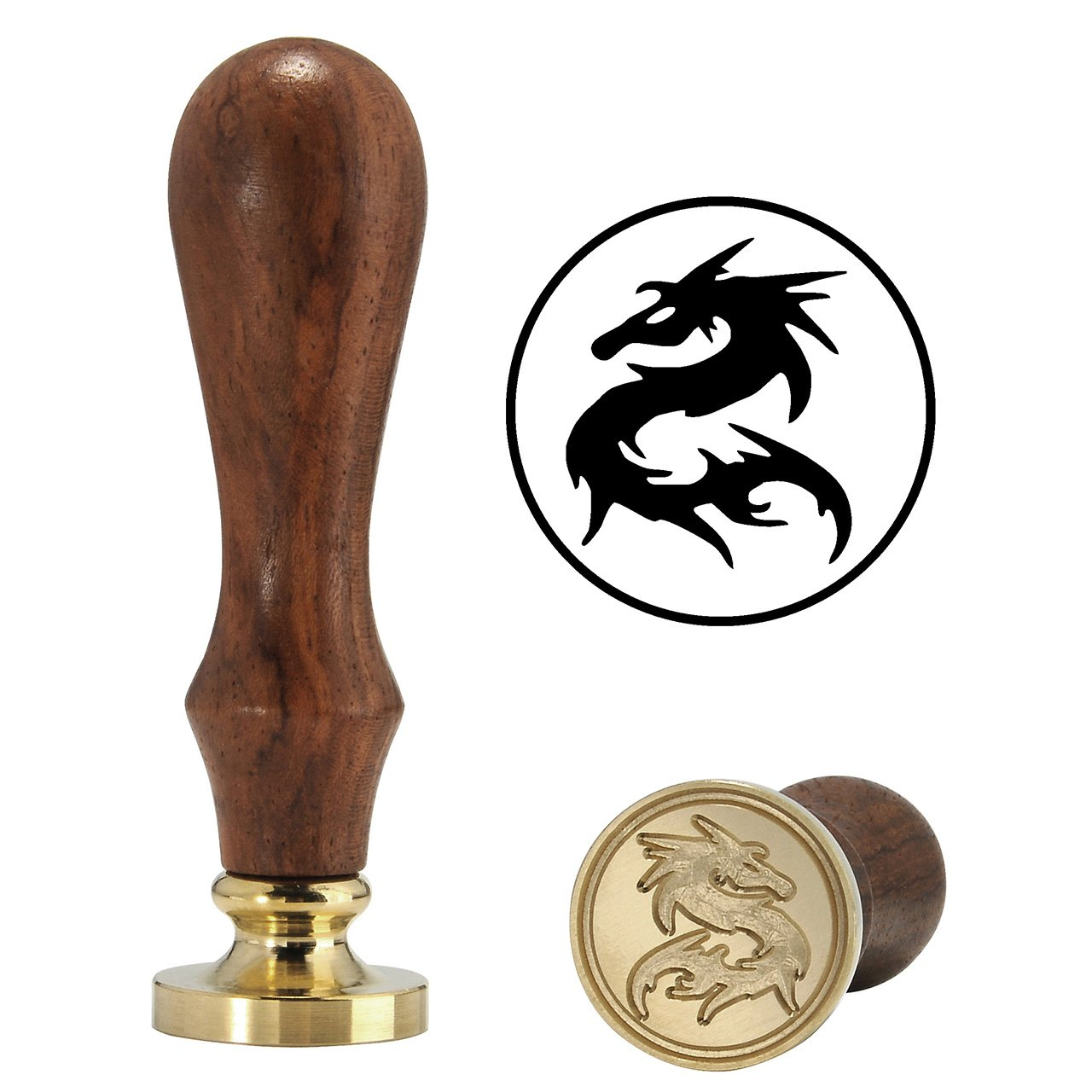 Authoritative Dargon Wax Seal Stamp, Yoption Vintage Retro Authoritative Dargon Sealing Wax Stamp, Great for Embellishment of Cards Envelopes, Invitations, Wine Packages, Ideal Gift (Dargon #1)