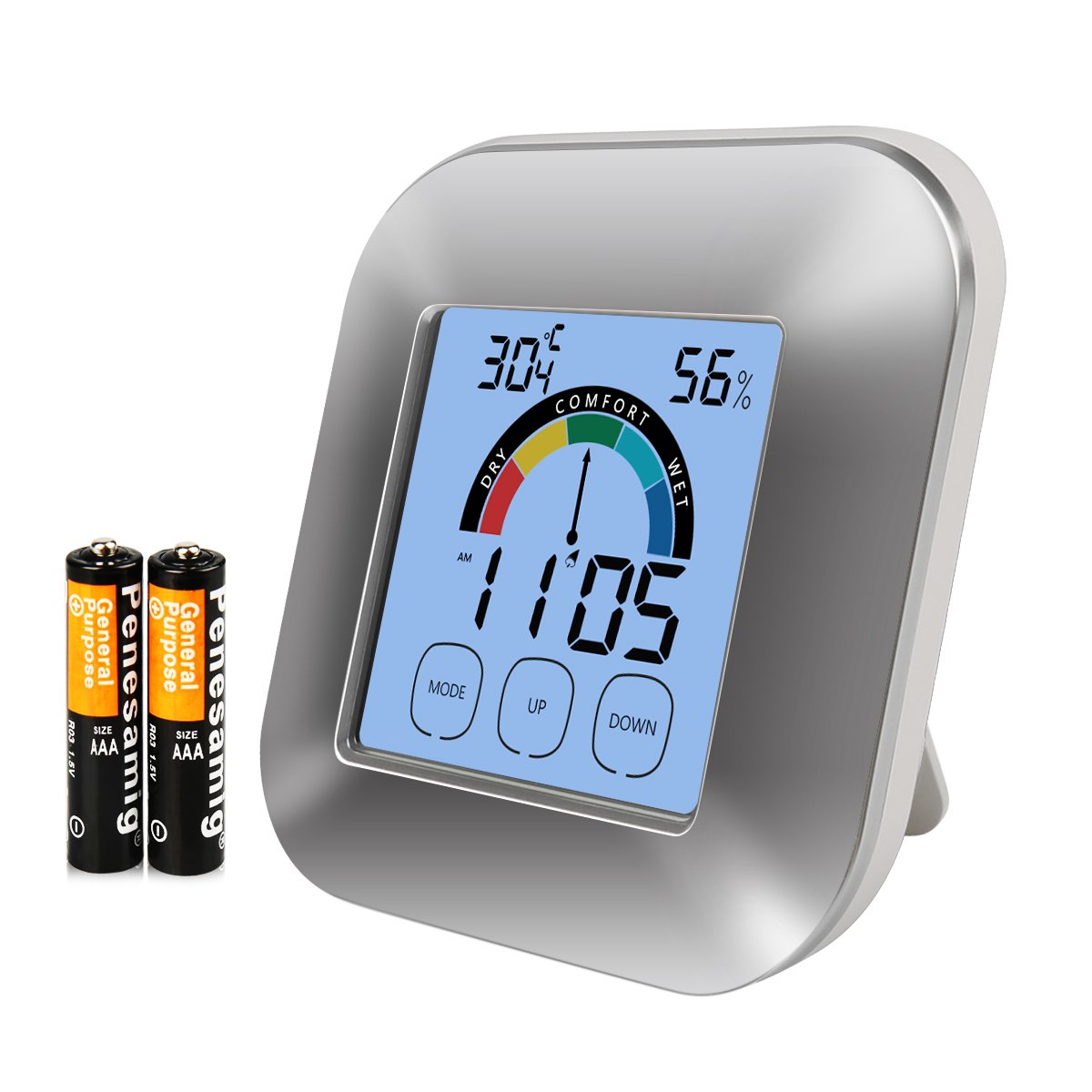 Digital Hygrometer Monitor Indoor Thermometer - Boyko Pro Accuracy Smart Humidity Temperature Gauge with Touchscreen Backlight Timer Alarm