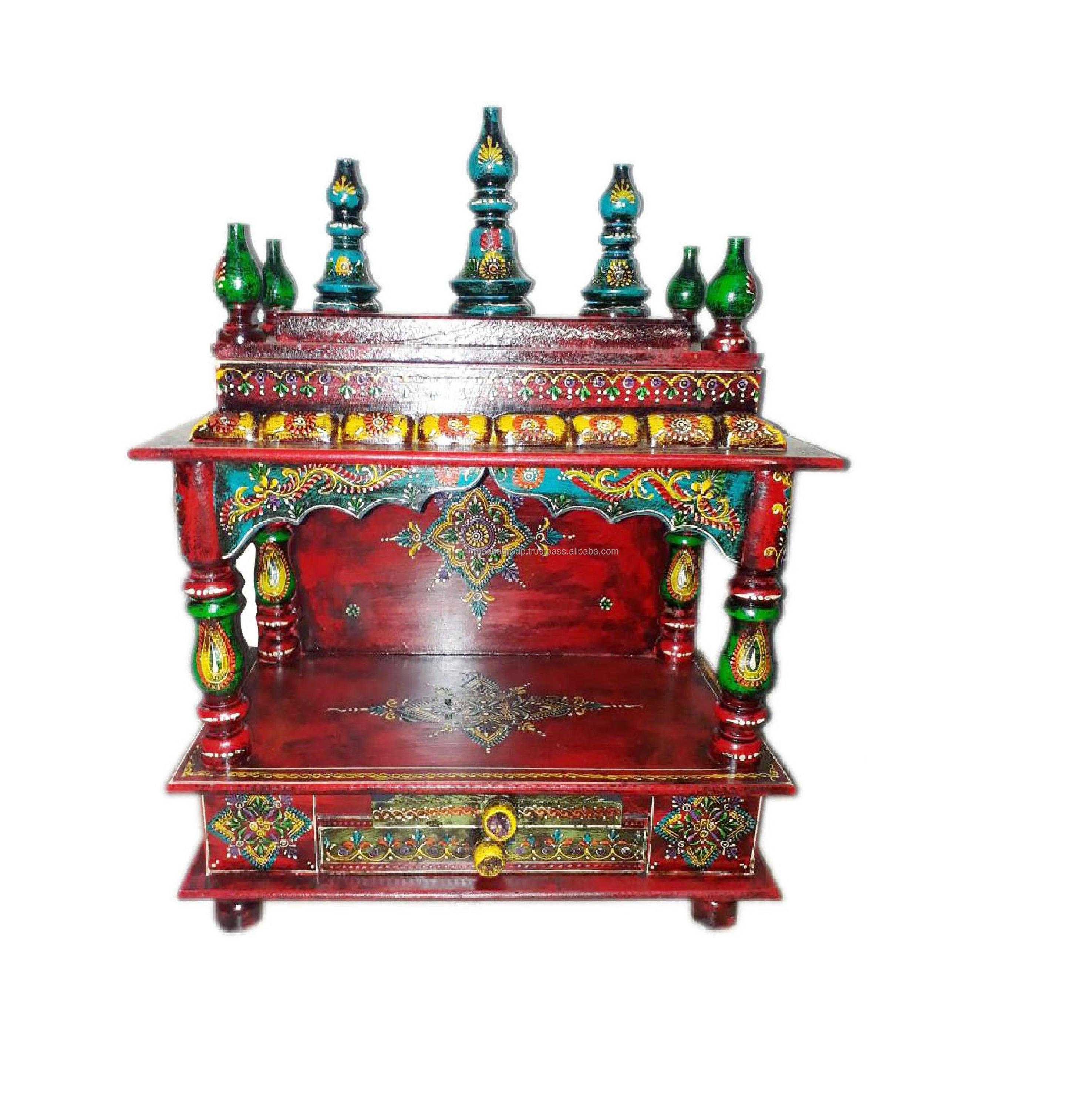 Handmade Wooden Temple Design For Home Buy Handmade