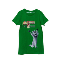 Kids Baby Clothes Cartoon Printed Green Color Short Sleeve