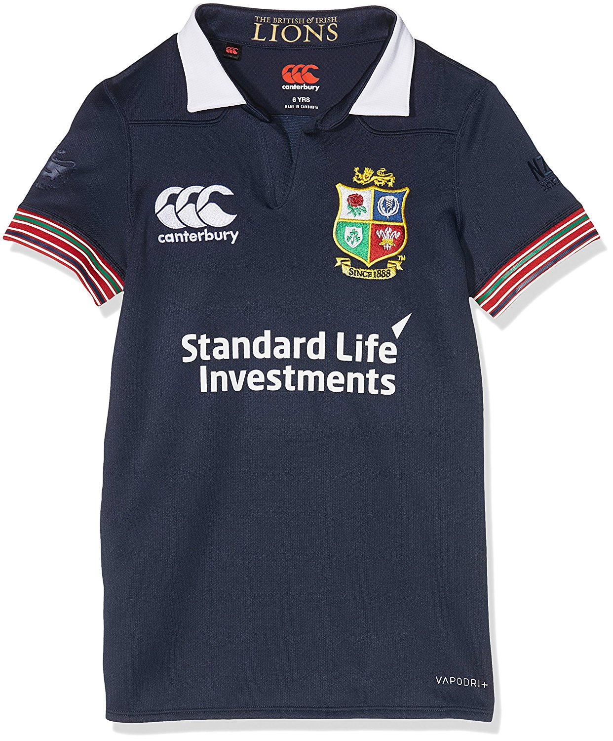 1c29de568d7 Canterbury 2016-2017 British Irish Lions Rugby Pro Training Jersey (Peacot)  - Kids