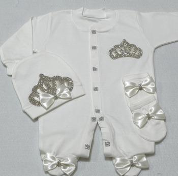 2f2e7c1c7 Crowned Jewel 3 Pieces Baby Romper Set - Buy New Born Romper ...