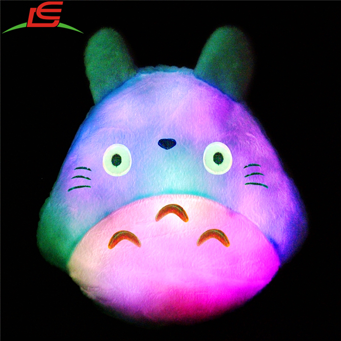 Cute Colorful Lovely Chiristmas Pillows Light Luminous Totoro LED Cushion