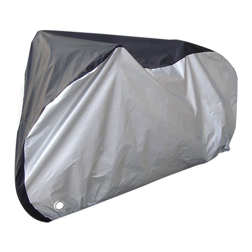 Bike Cover - Waterproof Bicycle Cover, Heavy Duty Outdoor Cycle Storage Bag, Anti-UV Protection Anti Theft Lock Holes Buckles, Includes Drawstring Bag, 107 x 43.3 x 51 Inches