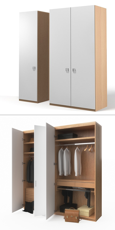 Bedroom furniture custom type corner wardrobe closet design