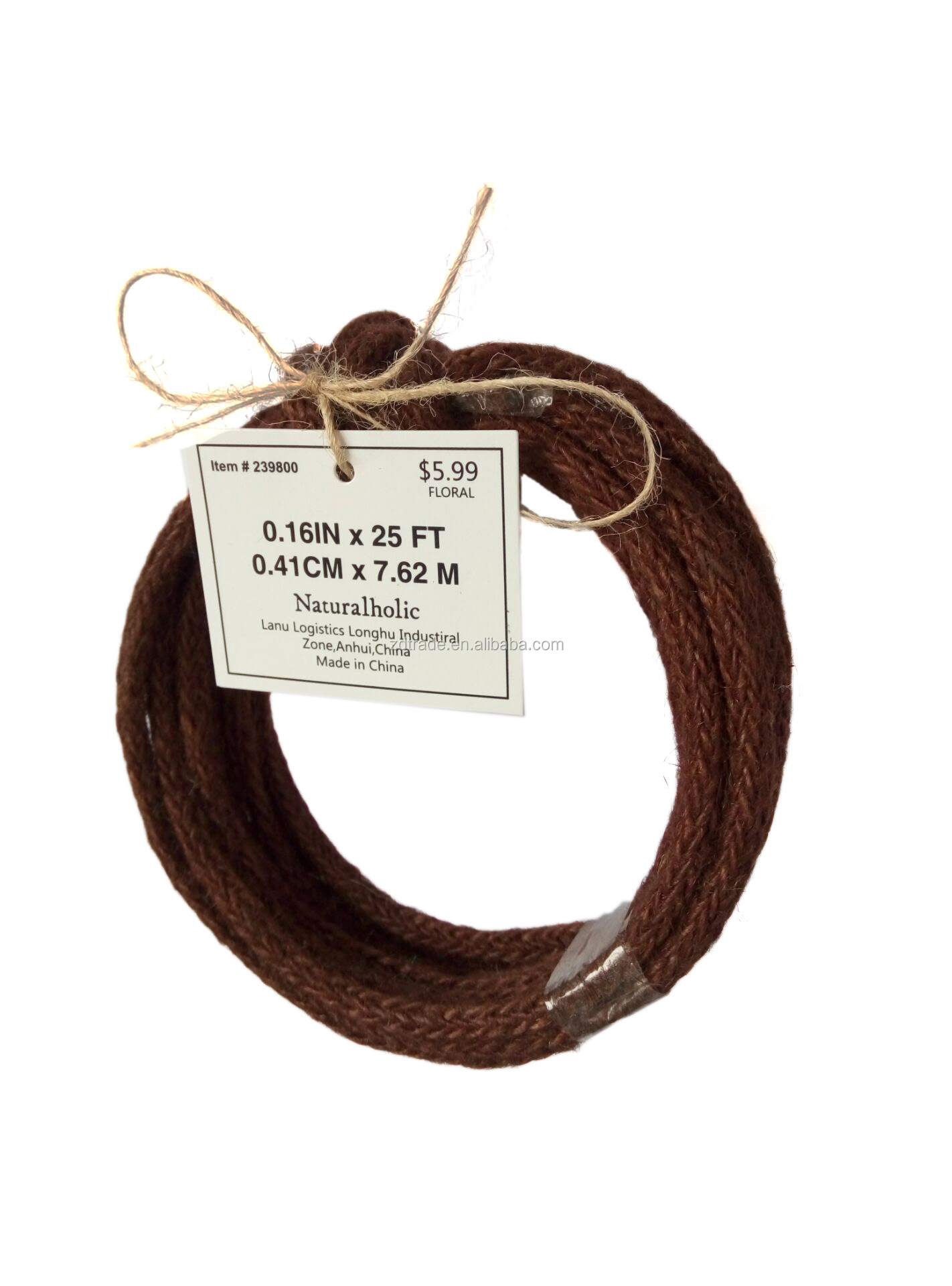 Garden rope wired ribbon Jute rope flower wrapping rope