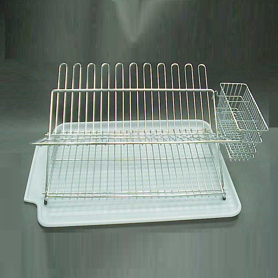 Simple Kitchen Metal White Folding Wire Rack Dish Holder - Buy ...
