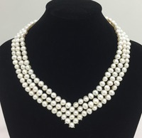 Crown Triple Pearl Necklace