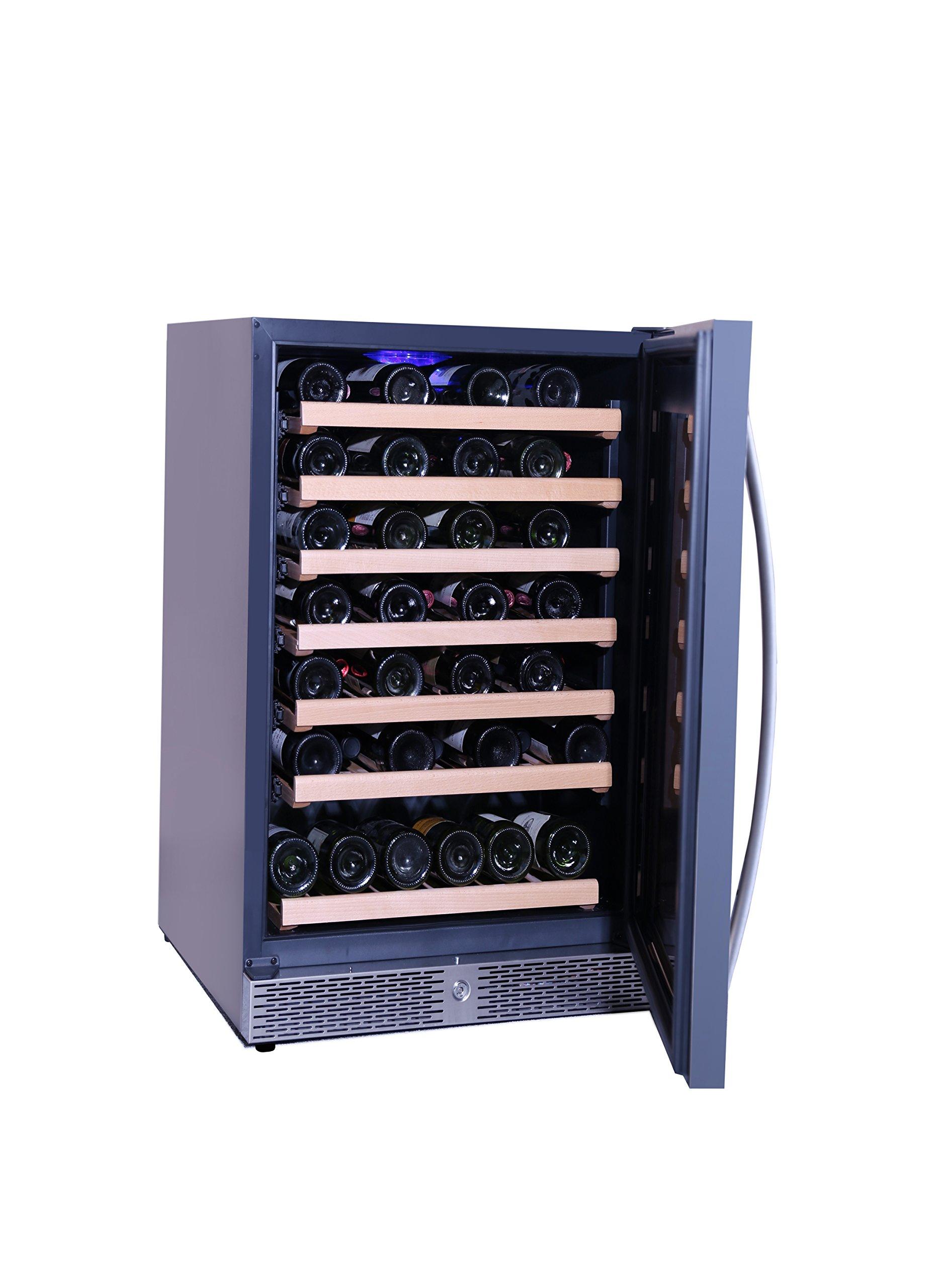 Smad 46 Bottle Single Zone Built-in Wine Cooler with Lock , Reversible door
