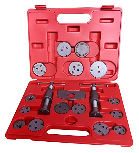Kauplus 18 Piece Wind Back Brake Kit Break Caliper wind Back Tool Set Disc Brake Caliper Piston Pad Car Wind Back Tool Kit Wind Back Disk Break Pad Replacement Tool Kit