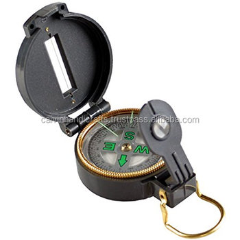 Antique Nautical flip-up lens to line up the compass with the direction CHCOM546