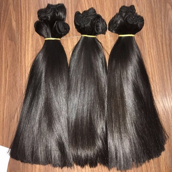 Super double Bone Straight natural color hair from Livihair company in Vietnam is 100% human hair, virgin hair, Brazilian hair