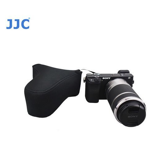 JJC OC-S3BK Camera Bag Case for Sony A6300 A6000 A5100 A5000 NEX3N 5N+55-210mm for Olympus E-PL7 E-PL6 E-PL5 E-P5 E-PL3+75-300mm OR 12-40mm Lens + A&R Micro Fiber Cleaning Cloth