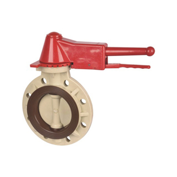 2 3 4 inch pph pvc hand wheel wafer type butterfly valve