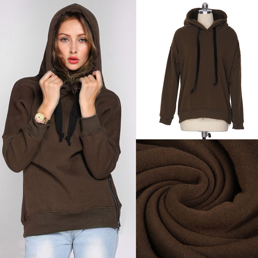 Brown hoodie plain high quality customized