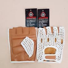 OEM Unisex Fashionable Design Goatskin Leather Cycling Gloves / Hand stitched crochet cycling gloves.