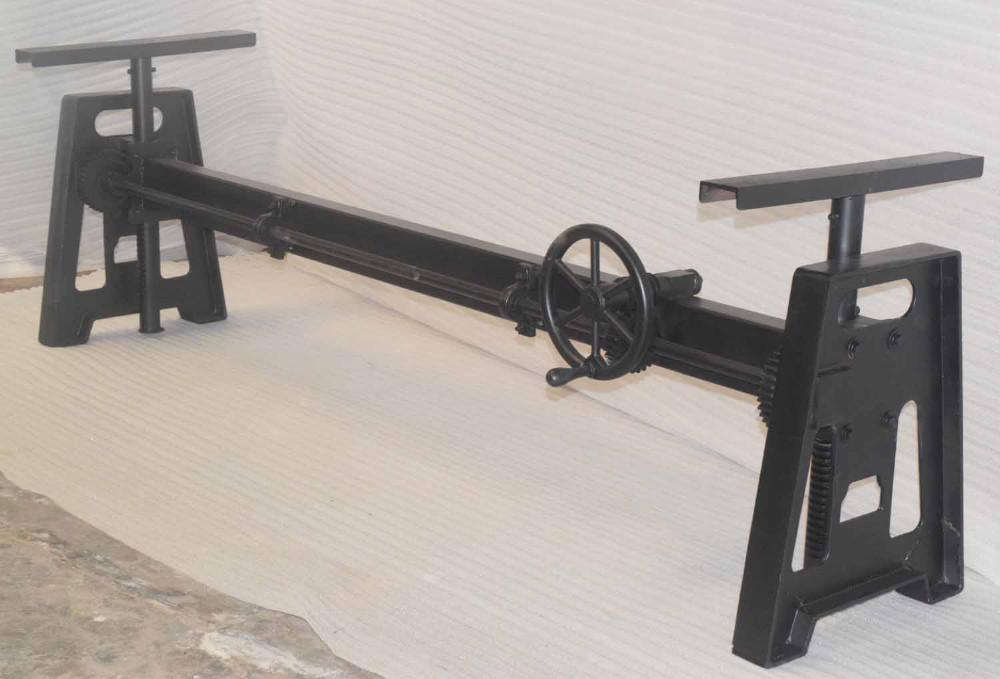 Industrial Cast Iron Machine Crank Mechanism Table Base Buy Hand Crank Adjustable Table Legindustrial Vintage Antique Crank Dining Tablevintage
