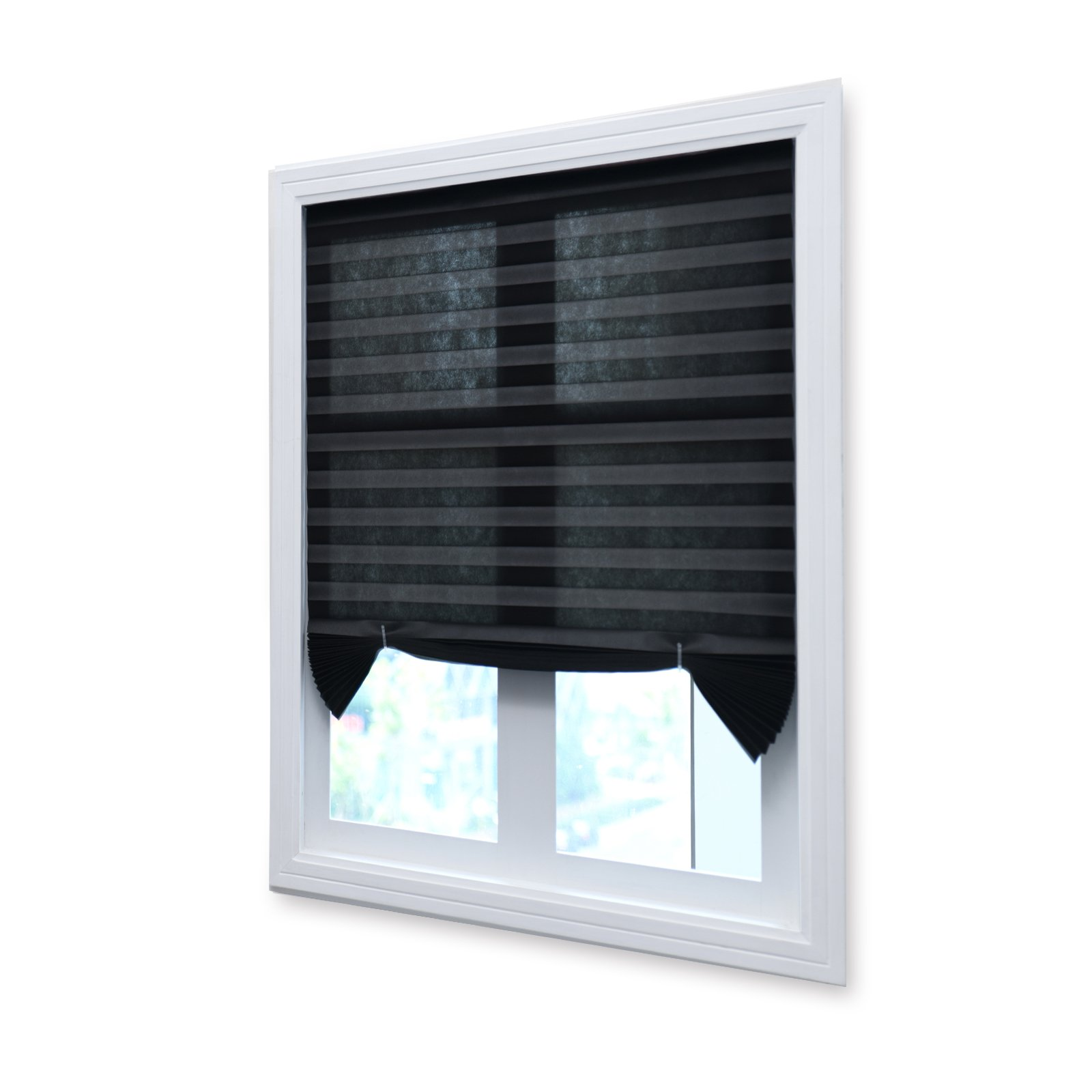 36 x 72 blinds pack black cordless pleated fabric shades room darkening window blinds trimat cheap shades find