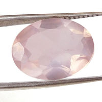 Faceted Rose Quartz Loose 12x16 mm Oval gemstone 6.5 Ct Pink gems stone